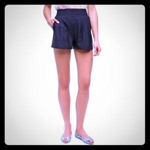 UO Kimchi Blue High pleat Waist Rayon Crepe Shorts